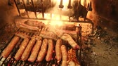fumado : sausages and meat cooked over the coals of the great fireplace with fire