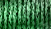даты : Many green numbers on a computer screen with black background