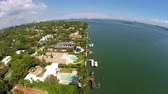 konak : Aerial waterfront real estate Miami 4k