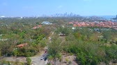 Aerial video residential neighborhood Coconut Grove