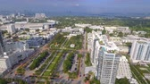 Aerial establishing shot Miami BEach FL 4k