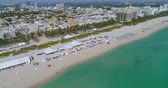 Drone shot Miami Beach 4k Atlantic Ocean