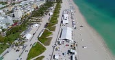 Aerial Miami Beach wine and food festival 4k 60p Стоковые видеозаписи