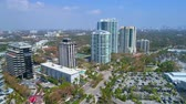 Aerial video Coconut Grove Condominiums Стоковые видеозаписи
