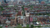точка зрения : Aerial drone video Backbay Boston MA USA 4k prores