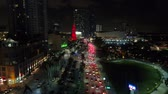 ilham vermek : Aerial shot traffic Downtown Miami Biscayne Boulevard