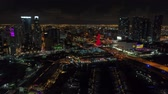 Lights of Downtown Miami aerial video
