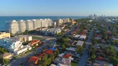 Aerial tour Surfside Florida neighborhoods and houses