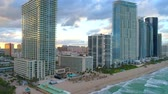 Aerial video Sunny Isles Beach highrise condominiums 4k 60p Стоковые видеозаписи