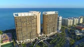 St Regis Bal Harbour aerial shot Stock Footage
