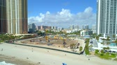 Aerial approach construction site The Estates at Acqualina 4k