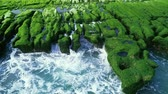 expozice : Aerial shot of green Reef in Lao Mei on a Sunny day, Taiwan, New Taipe
