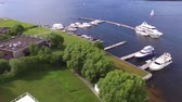 regata : Filming by a quadcopter above Yaht Club