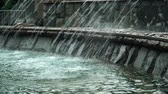 幾何学的配置庭園 : Many jets of water that flow into the fountain 動画素材