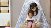 organize : using tablet while play at home