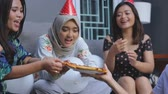 gitara : friends enjoying brithday party and singing together