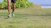 krok : leg of an athlete running Wideo