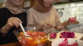 melancia : women hijab prepare fresh drink cocktail