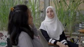 jordanian : arab muslim woman in conversation Stock Footage