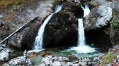 garmisch : Cascade of Kuhfluchtwasserfall near Farchant, Garmisch-Partenkirchen, Bavaria, Germany Stock Footage