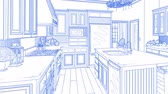 Transition Of Beautiful Custom Kitchen From Drawing to Completion. Wideo