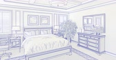 рисунки : 4k Custom Master Bedroom Drawing Transitioning to Photograph.