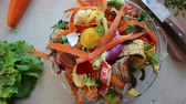 decomposing : Organic kitchen wasted for composting. Natural gardening, waste sorting, food wasting concept