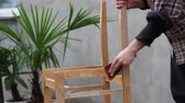 stolarz : Rebuilding Of Old Chair. Stripping Varnish