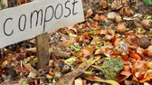 pytel : Backyard composting. Compost bin. Food waste can be biodegraded by composting, and reused to fertilize