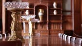 dining table : Old antique vase. Luxury classic house