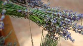 provence : A rustic lavender themed event. The rustic French natural setting. Sprigs of short stem lavender tied with twine