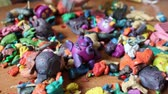 görüntüler : Children Playing With Plasticine Stok Video