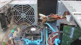привод : Computer Technician Blows Canned Air Into Cpu