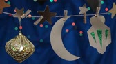 faroles : Decoraciones de Ramadan Moon y Stars. Decoración DIY Ramzan