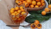 marmelat : Loquat Fruits and Jam Stok Video