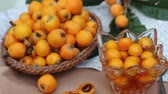 kernels : Loquat Fruits and Jam Stock Footage