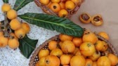 confiture : Loquat Fruits and Jam Stock Footage