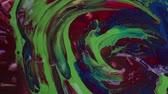 trançado : Rotating Hypnotic Tunnel. Real color psychedelic footage. Colorful paints mixing as moving, motion, rotation. Abstract background Stock Footage