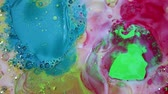 dimensão : Abstract Colorful Ink Liquid Paint Explode Diffusion Psychedelic Explosion Motion Stock Footage