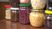 Shop in Bulk. Glass Cereal Jars. Food storage in pantry. Zero Waste Shopping Dostupné videozáznamy