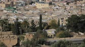 cami : Fes City Morocco. Fes City Overview. North Africa. Stok Video