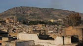 medeniyet : Fes City Morocco. Fes City Overview. North Africa. Stok Video