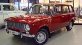 exotikou : Mariupol, Ukraine - October 29, 2016: Red VAZ Lada 2102 Exhibition of vintage cars in the shopping mall. Video was obtained in a public place in the open event with a free input