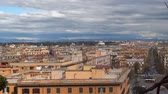 ancient tv : Rome, Italy. Panorama of the old part of the city. Stock Footage