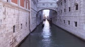 Венеция : Venice. Italy Bridge of Sighs. The view from the Bridge of Sighs was that the convicts saw before their imprisonment. Стоковые видеозаписи