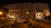 imperador : Rome, Italy - March 19, 2018: The building of the Colosseum in Rome at night