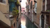 gondoliere : Narrow channels in Venice. Italy