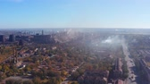 l air : Smog over the city. From birds eye view. Vidéos Libres De Droits