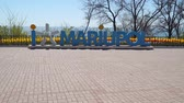 Mariupol, Ukraine - April 30, 2018: Installation in the city park Mariupol