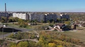 borough : Mariupol Ukraine. View from the aerial view of the town. Aerial video. Stock Footage
